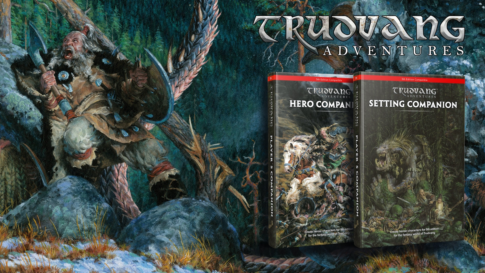 Trudvang Adventures, a roleplaying game for 5E