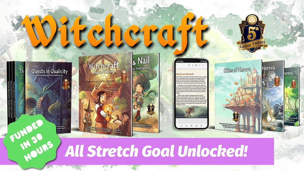 Witchcraft: Magic of Hereva, Printed & More Adventures (5e) project video thumbnail
