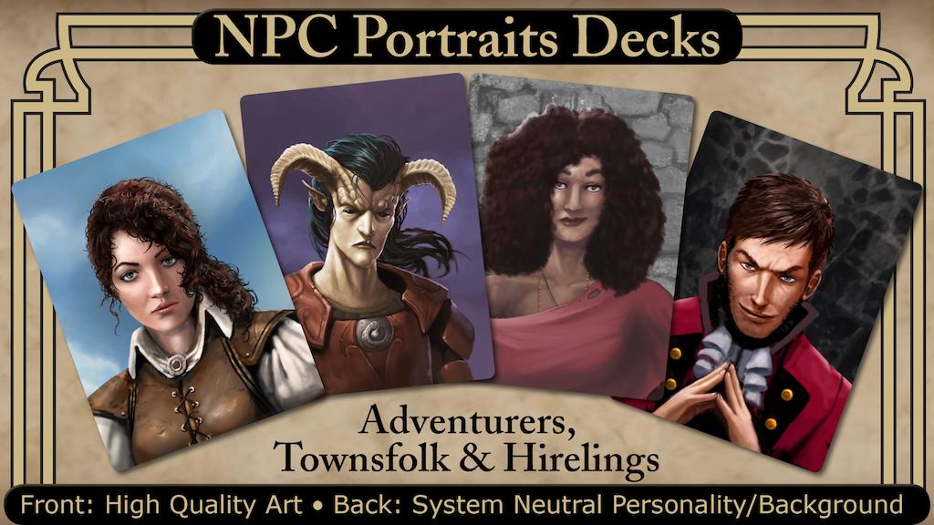 NPC Portraits Decks: Adventurers, Townsfolk, and Hirelings project video thumbnail