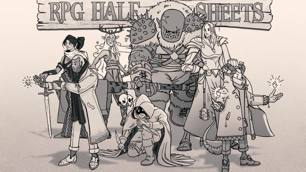 Project image for RPG Half Sheets by Fernando Olmedo