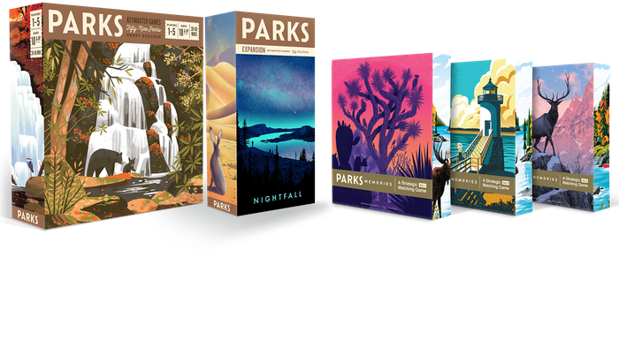 Celebrate the US National Parks with a new expansion for PARKS & a standalone Strategic Matching game featuring Fifty-Nine Parks art.