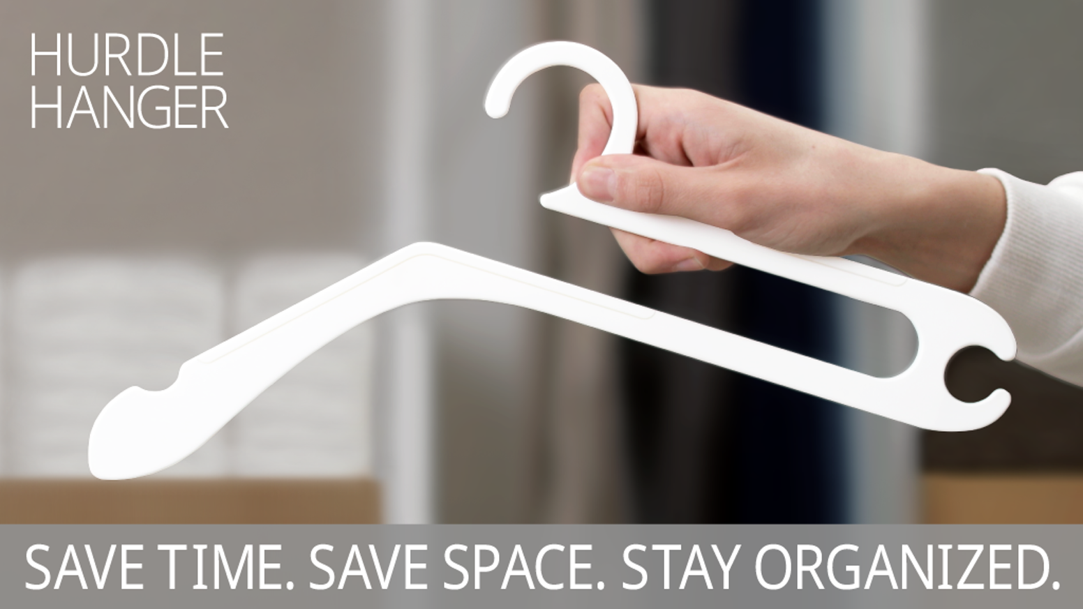 A strong, all-purpose hanger designed to help you save time, save space, and stay organized.