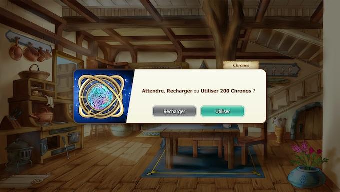 """Exemple de l'utilisation des points """"Chronos"""" dans le jeu"""