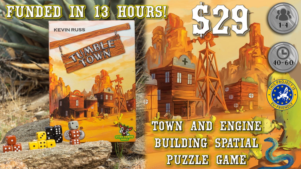 Tumble Town: the Dice Stacking Spatial Puzzle Game project video thumbnail