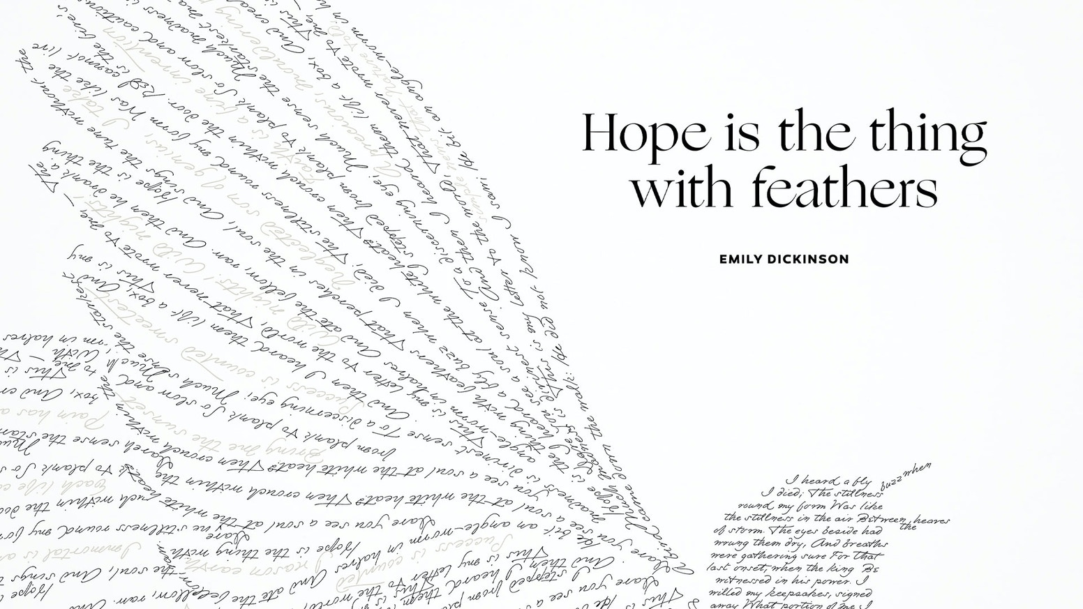 Hope Is The Thing Emily Dickinson Letterpress Print By Obvious State Kickstarter Watch ian mcmillan's tips on writing poems for special occasions. hope is the thing emily dickinson
