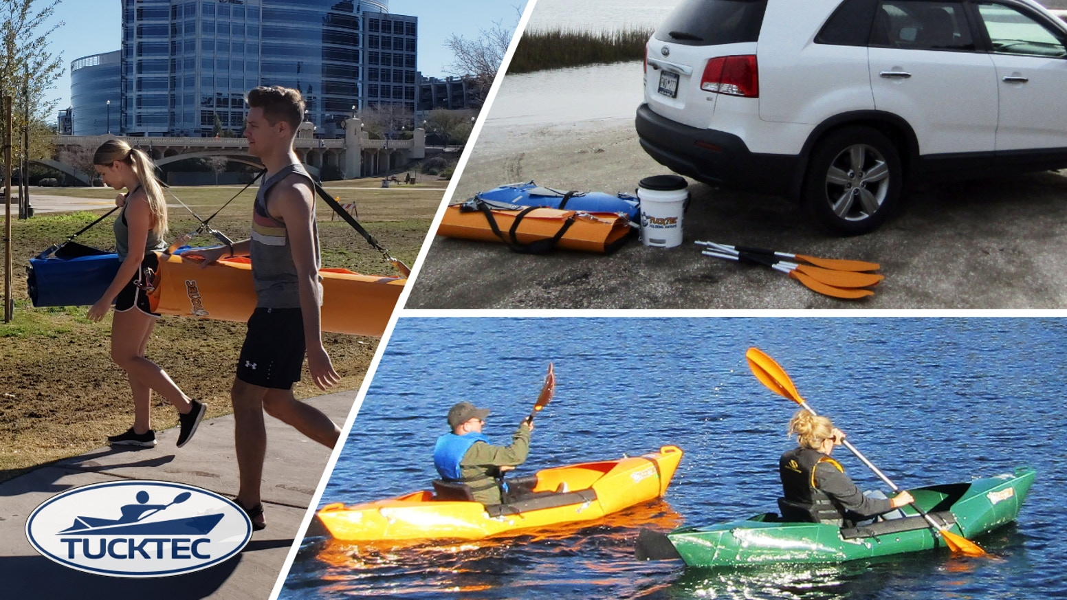 A lightweight, foldable, hardshell Kayak made from recycled plastic. Save space without sacrificing durability or performance.