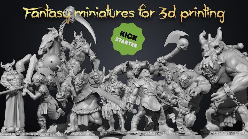 Fantasy miniatures Vol1 (STL for 3D Prints) project video thumbnail