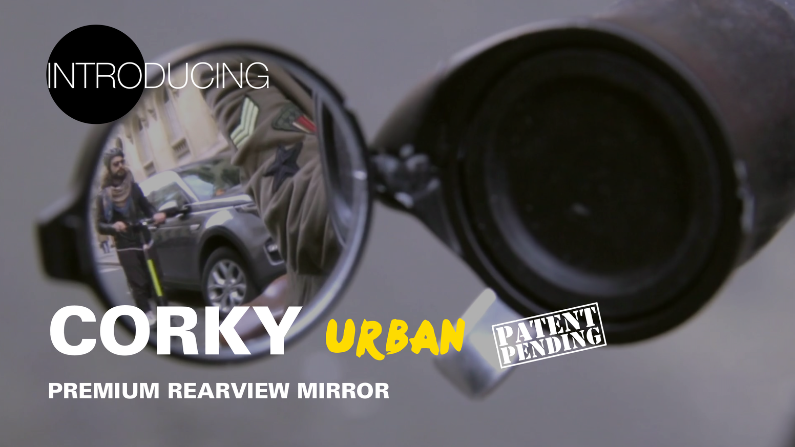 Unlikely Plug & Play Design rearview mirror compatible with any flat-bar Bike or scooter