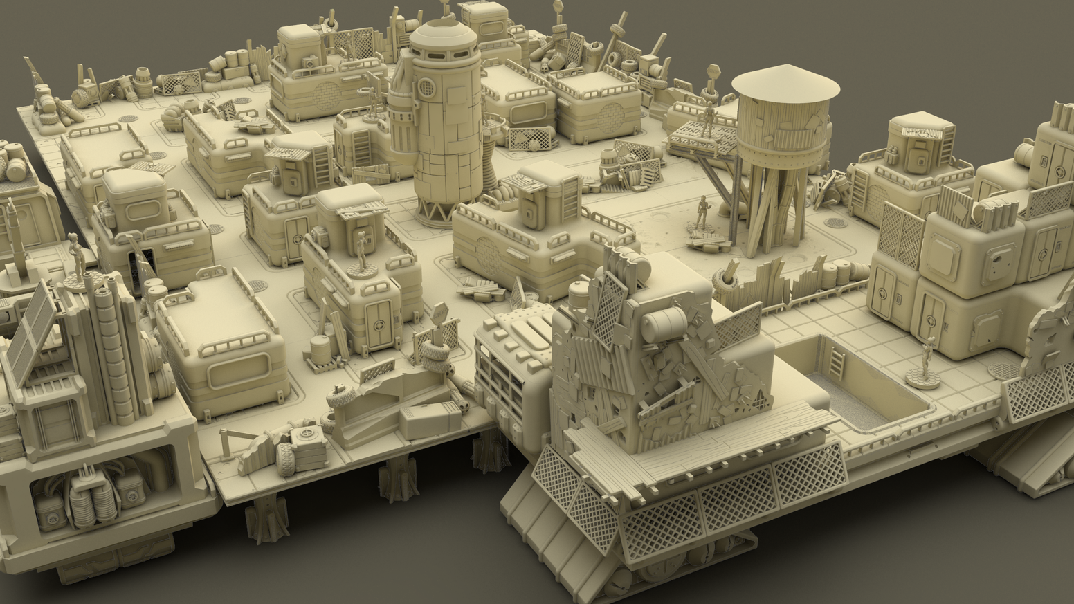 A collection of 3d printable PostApocalyptic Mayhem by LOOTgames