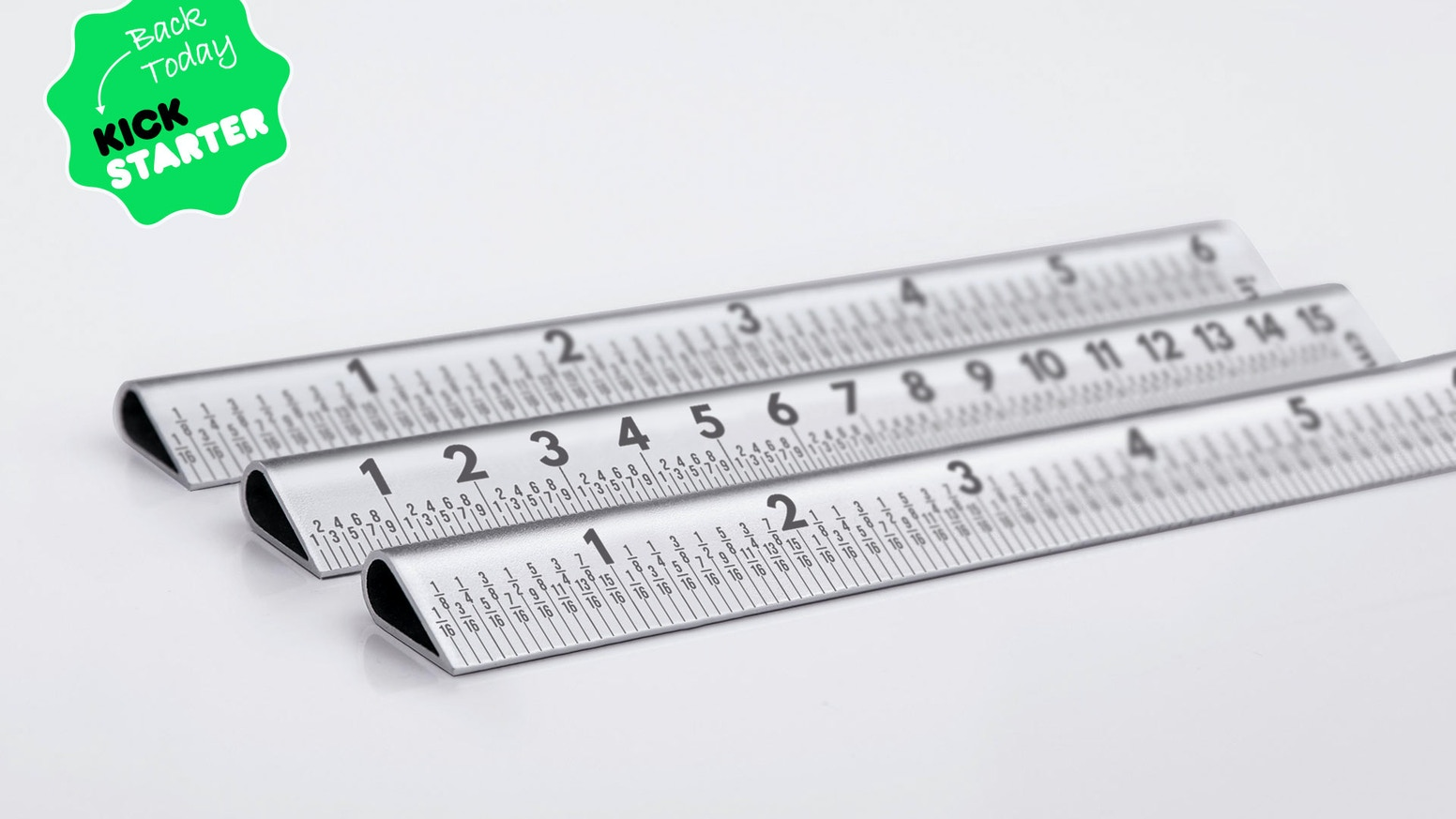 A laser engraved, aerospace aluminium ruler set at a practical 30° angle. Designed for designers, suitable for everyone