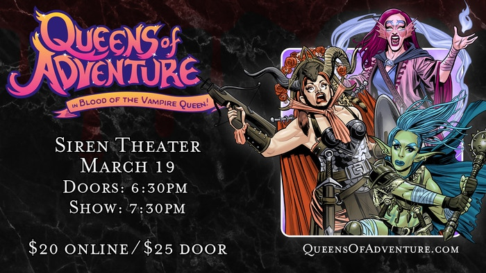 Dungeons & Dragons & Drag Queens come together in a comedy adventure podcast! Check out our live shows throughout March 2020 in Seattle, Portland, and San Francisco!