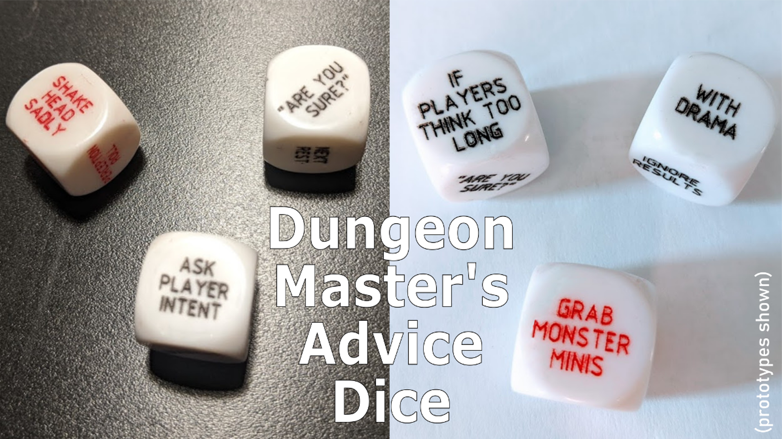Does the DM need a little extra help or inspiration?  Roll the dice and take their advice! (or don't)