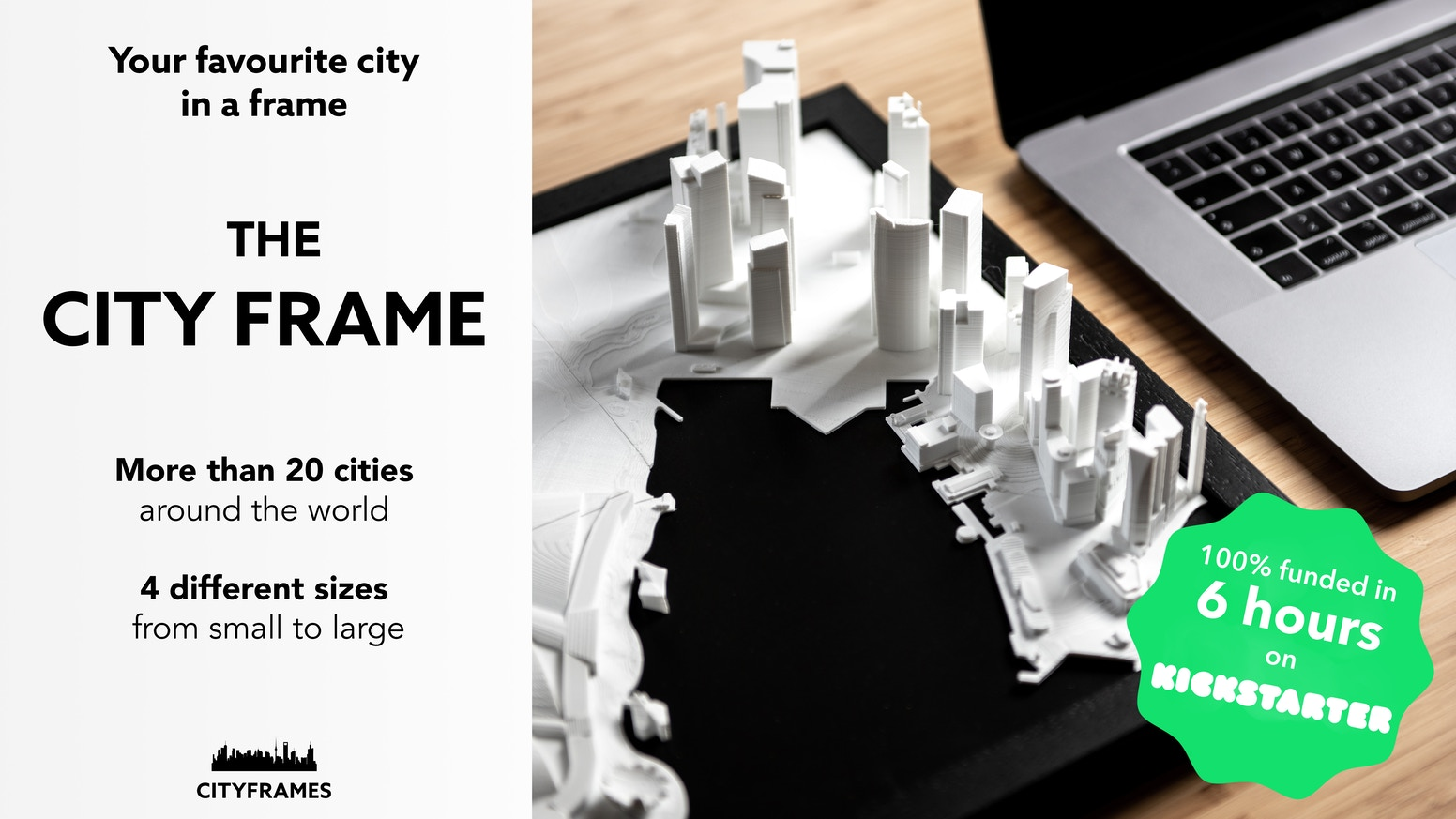 Your favourite city in a frame! A new kind of home decor and interior design.