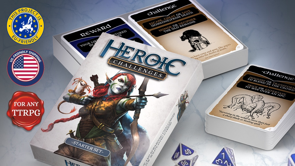 Heroic Challenges - Roleplaying Cards for Players and GMs project video thumbnail