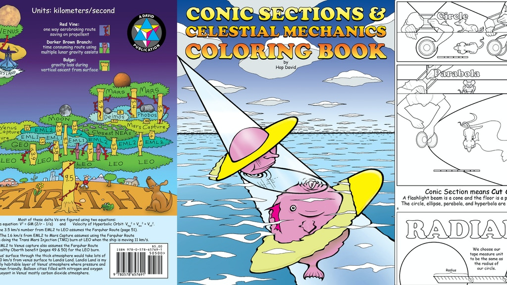 Project image for Conic Sections and Celestial Mechanics Coloring Book