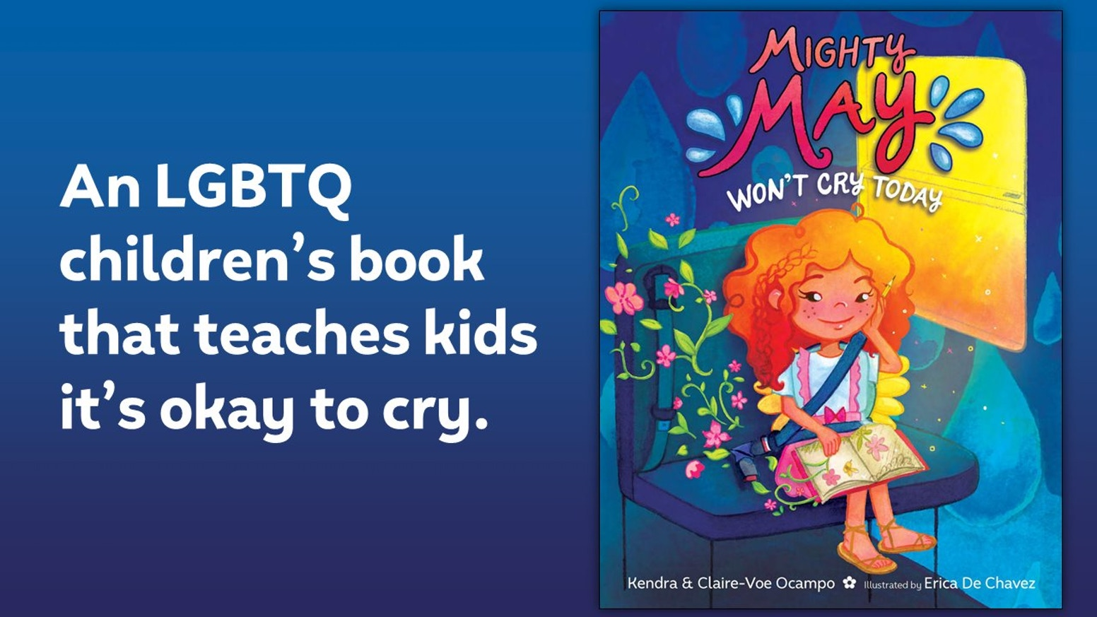 A children's picture book that features a family with two moms and teaches kids (and adults!) that it's okay to cry. #lgbtq #lgbt