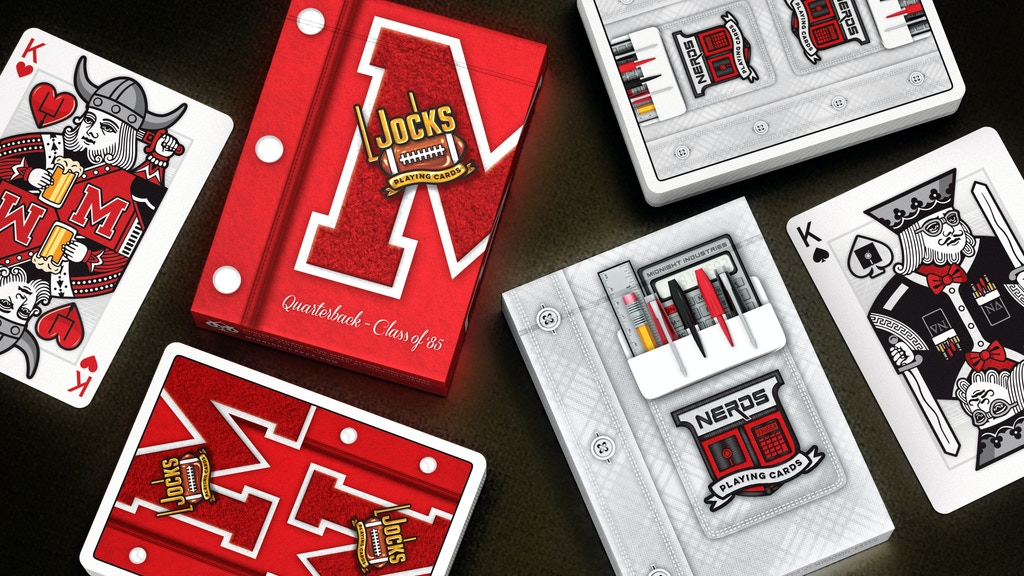Project image for Nerds vs Jocks Playing Cards