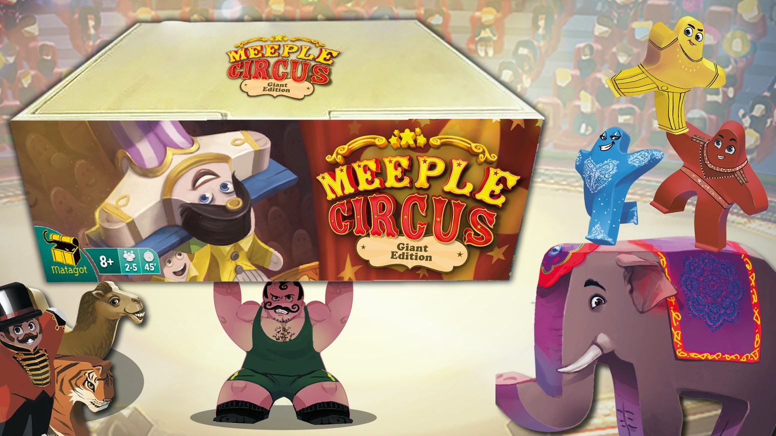 Run Away to the Circus! Assemble your acrobats, circus animals and guest stars into a show-stopping performance.