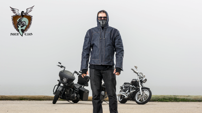 Biker jackets with advanced hood function, ventilation features, sleeve cuffs, detachable face panel/sleeves + 10 utility pockets!