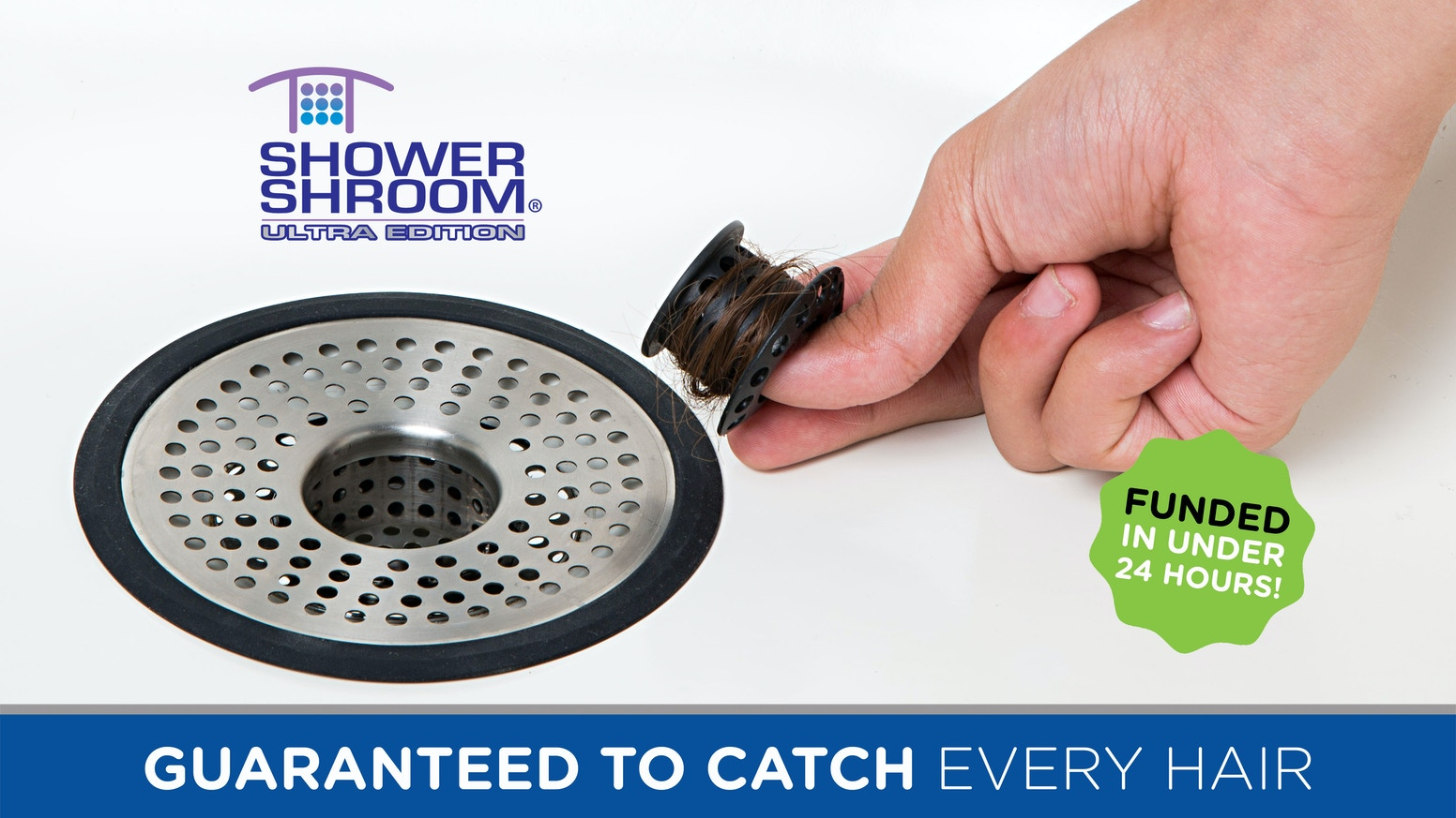 An Anti-Clog Drain Protector Hair Strainer for Shower Stall and Shower Tub Drains from the Makers of the Award-Winning TubShroom®
