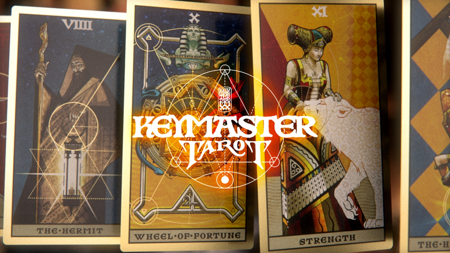 Explore the esoteric world of the House of the Rising Spade. The Keymaster Tarot is a complete set of 78 cards with an epic box.