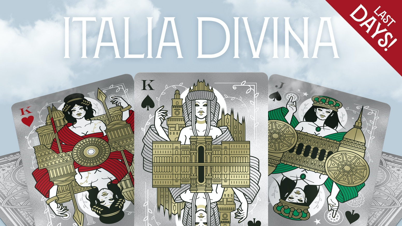 A cross between poker playing cards and Italian travel guides, these modern oracles will introduce you to the Goddesses of Italy.