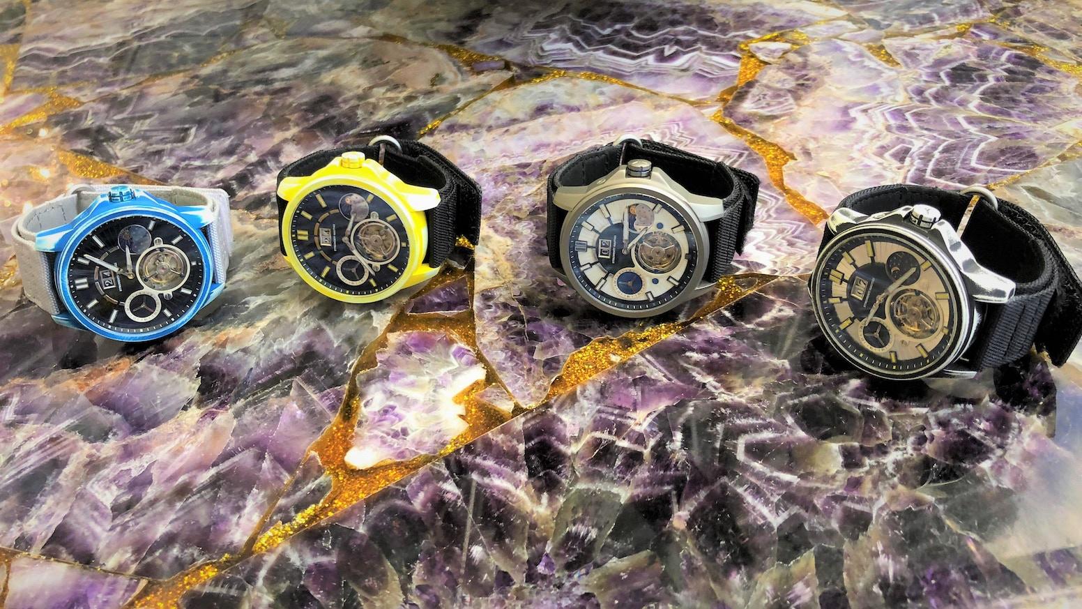 Cerakote Titanium Automatic Tourbillon watch water resistant to 200 meters.