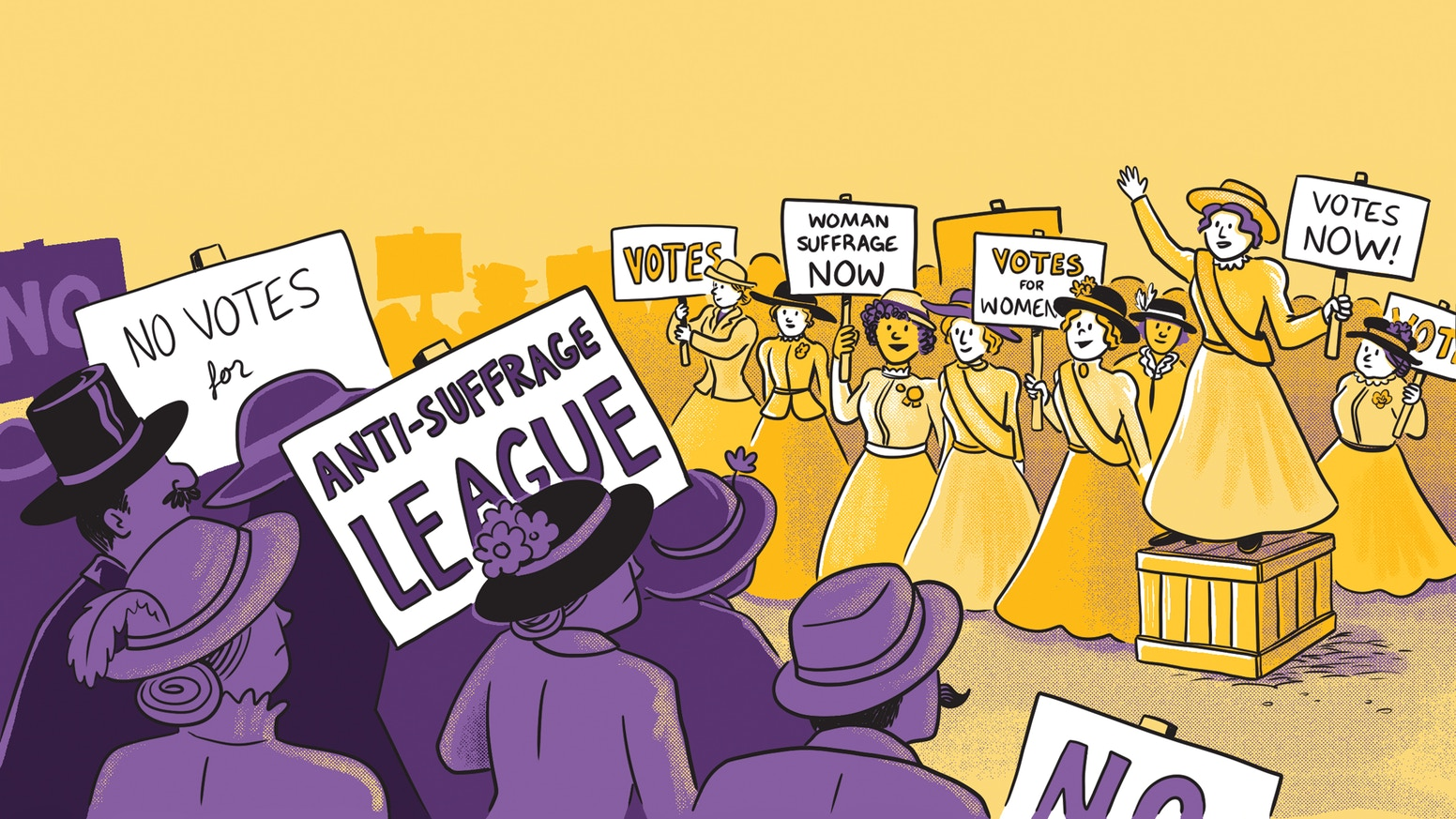 200+ pages of comics and art, created by womxn, exploring the people and narratives that led to women's suffrage.
