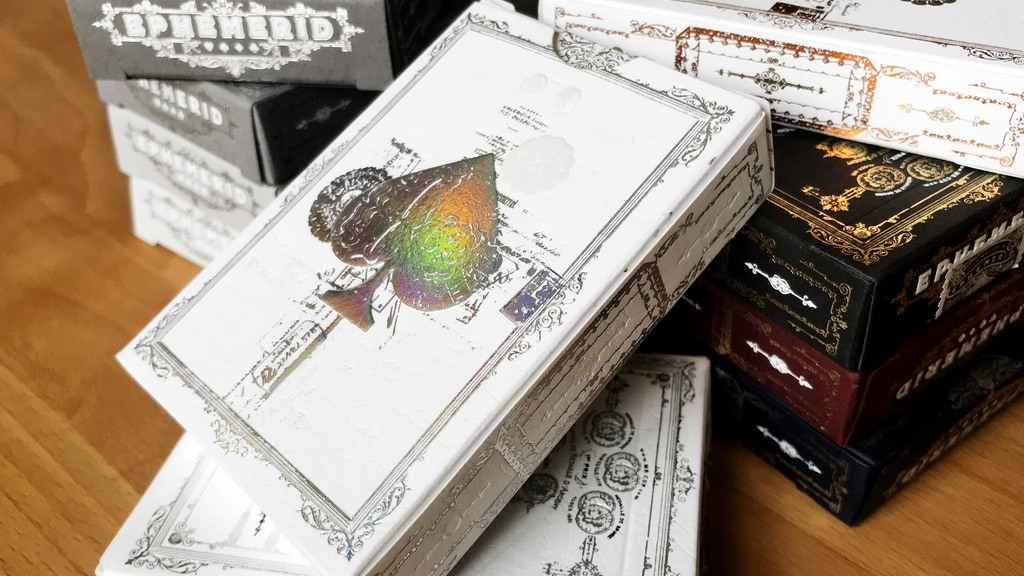 EPHEMERID playing cards - the Collectors editions project video thumbnail