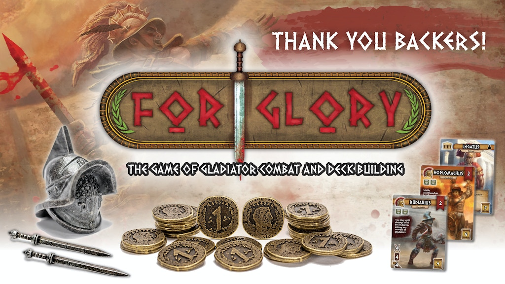 For Glory: The Game of Gladiator Combat and Deck Building project video thumbnail