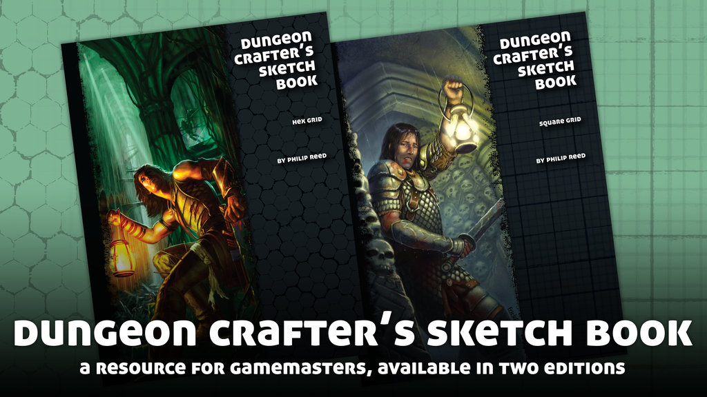 Project image for Dungeon Crafter's Sketch Book - Square and Hex Editions
