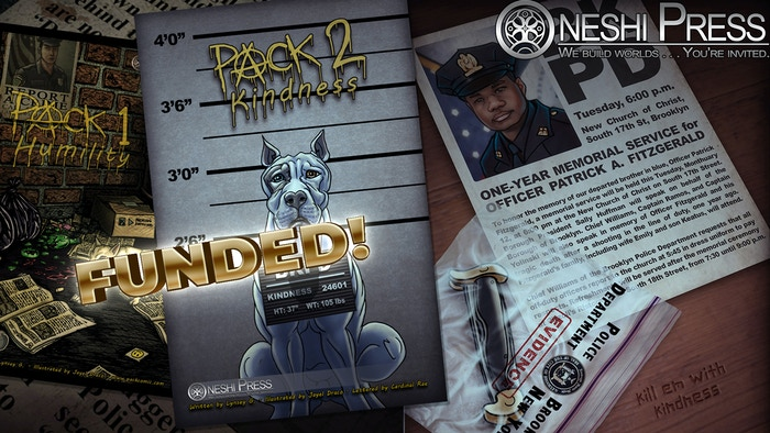 A vigilante dog comic book from Oneshi Press