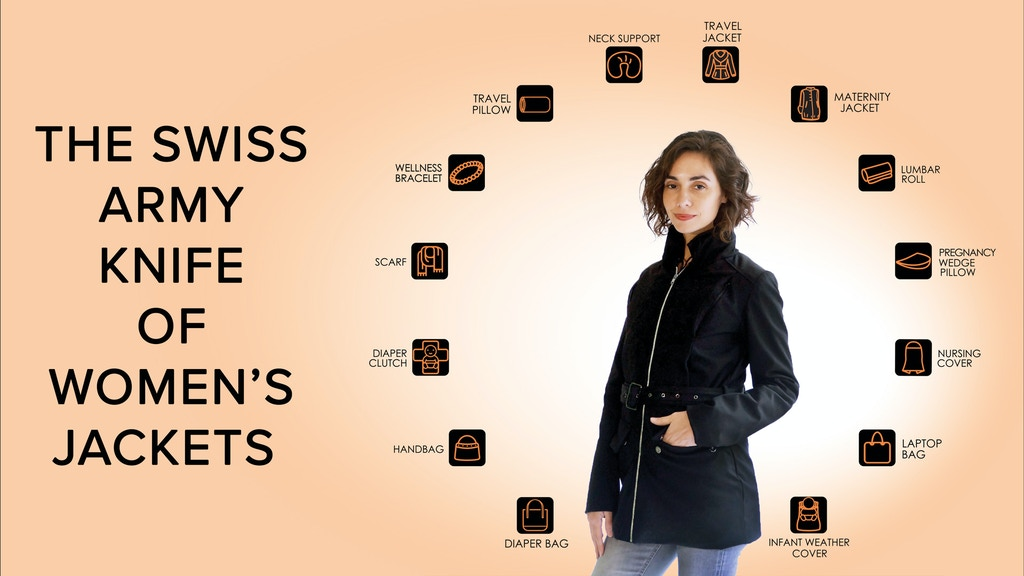 Project image for Momgeni: The Jacket with 50 features for the Mom-on-the-Go! (Canceled)