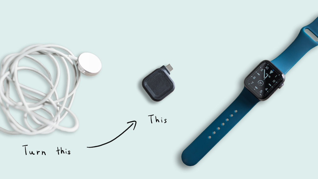 Maco Go: The smallest on-the-go Apple Watch Charger project video thumbnail