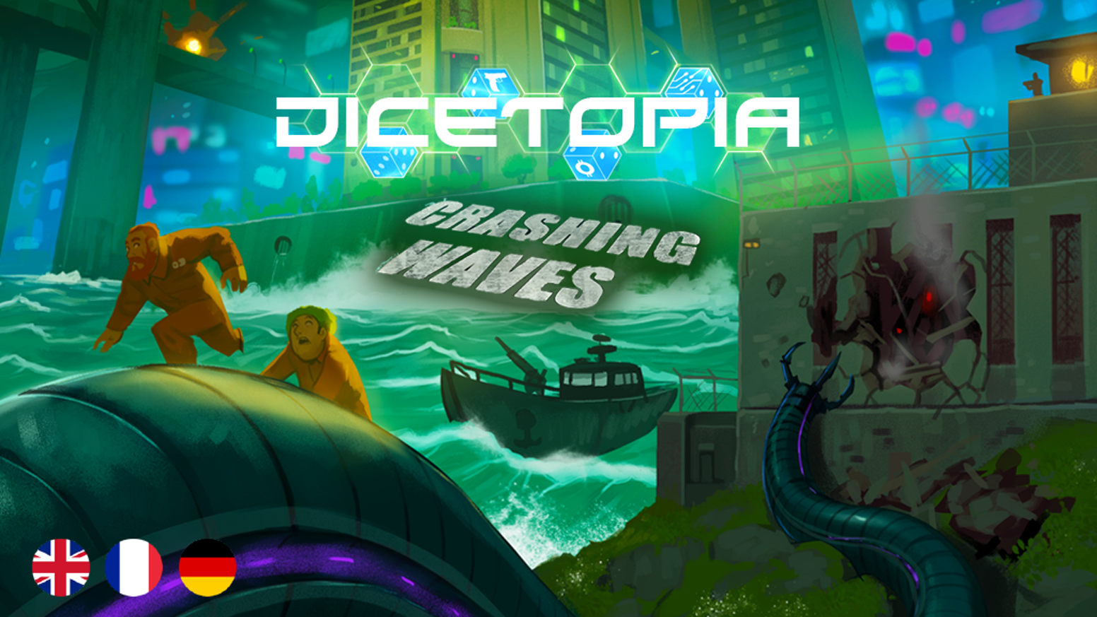 A final expansion for Dicetopia including a new unsettling dock area, thugs, new factions, 6 player support and a rebalanced city!