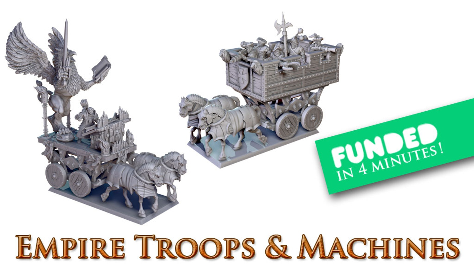 More than 120 new 3D miniatures, including war machines in our new  plastic injection material !!!