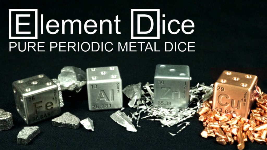 Element Dice: Luxury Metal Dice from the Periodic Table project video thumbnail