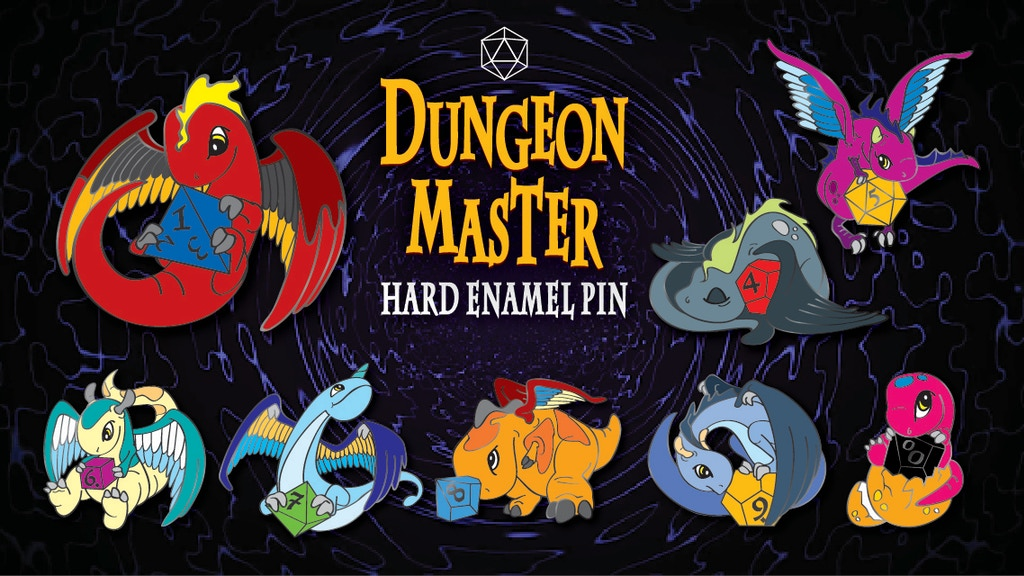 Project image for Dungeon Master hard enamel pins