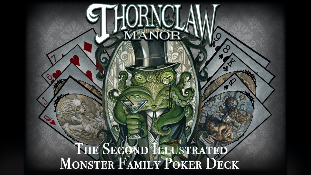 The Thornclaw Manor Illustrated Poker Deck and Art Book project video thumbnail