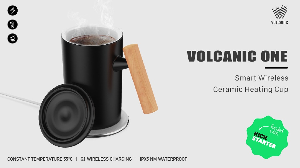 VOLCANIC ONE Smart Wireless Ceramic Heating Cup project video thumbnail