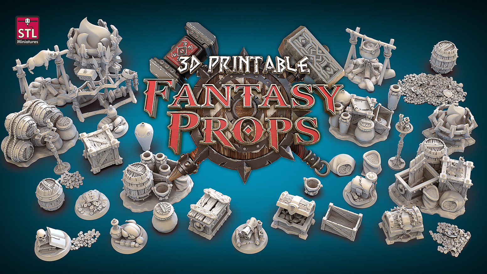 Print detailed props for your role-playing games!