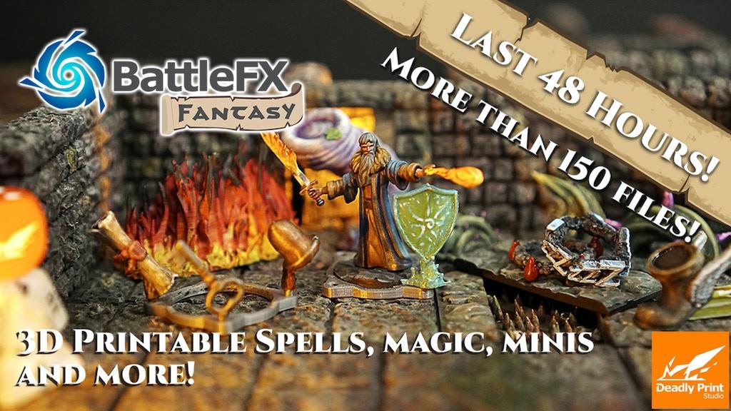 BattleFx Fantasy: 3D Printable Spells, Magic, props and more project video thumbnail