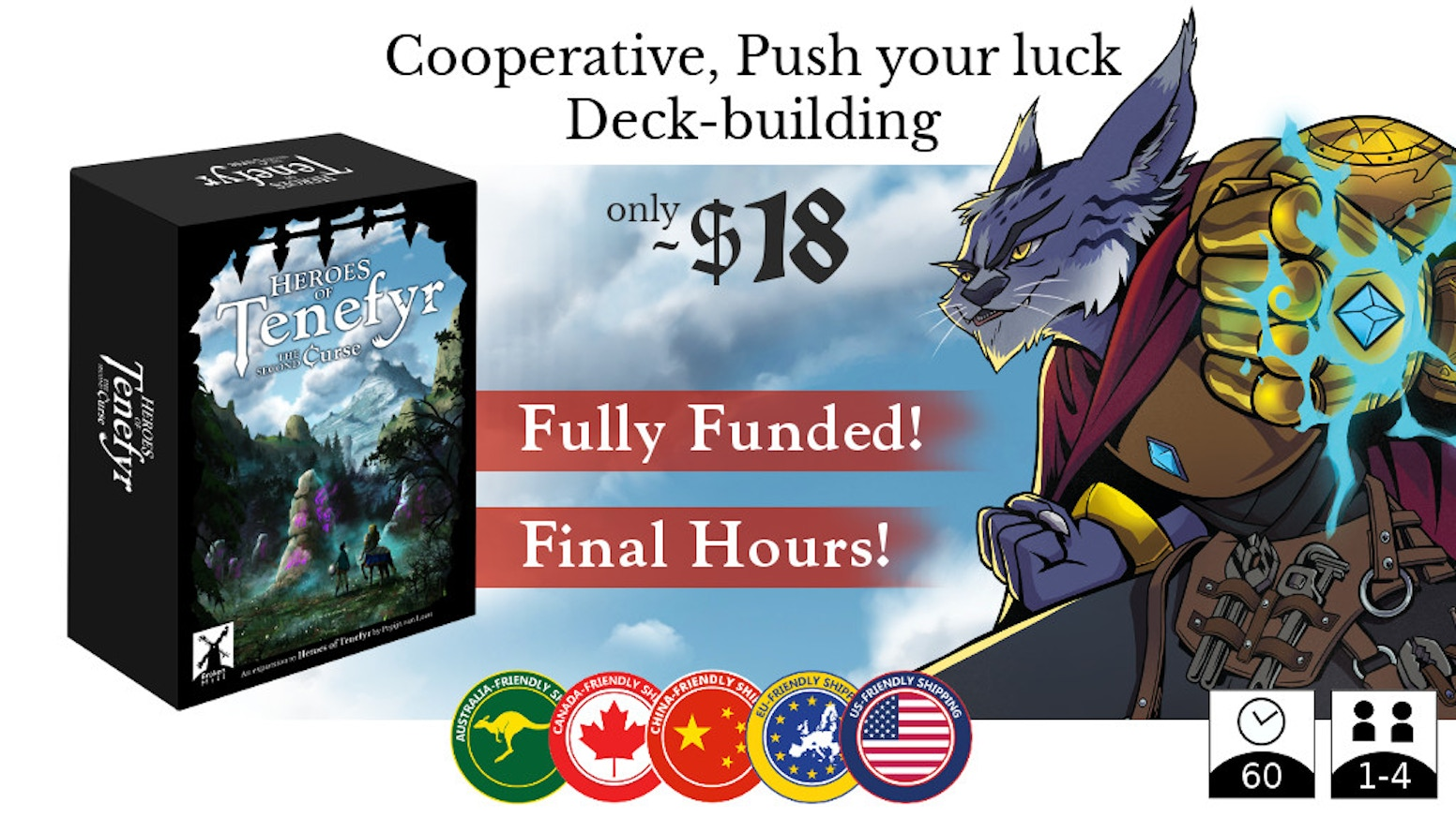 Cooperative, push your luck Deck-building for 1-4 players