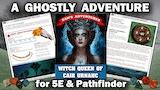5E D&D / Pathfinder Adventure - Witch Queen of Cair Urnach thumbnail
