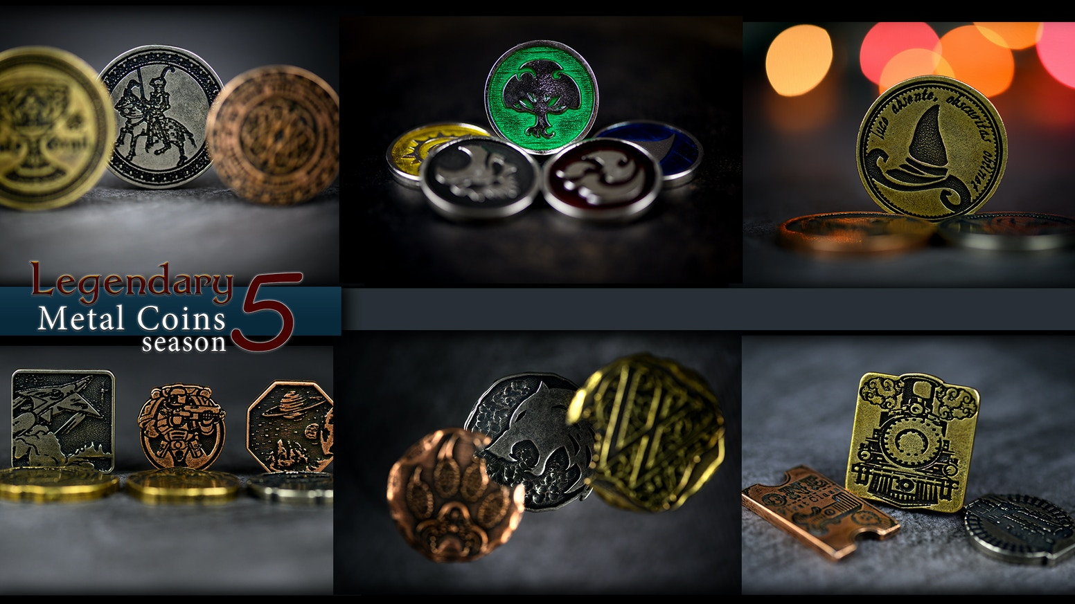 Fantastic metal coins that will help your games shine and enrich your gaming experience. Back for season 5 with new exciting ideas!