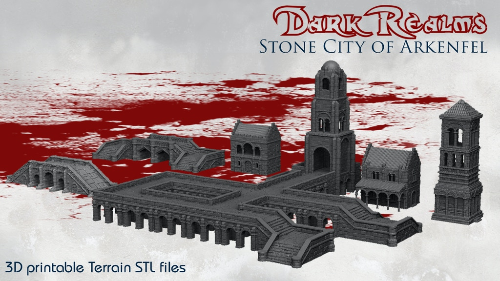 Project image for Stone City of Arkenfel 3D printable terrain