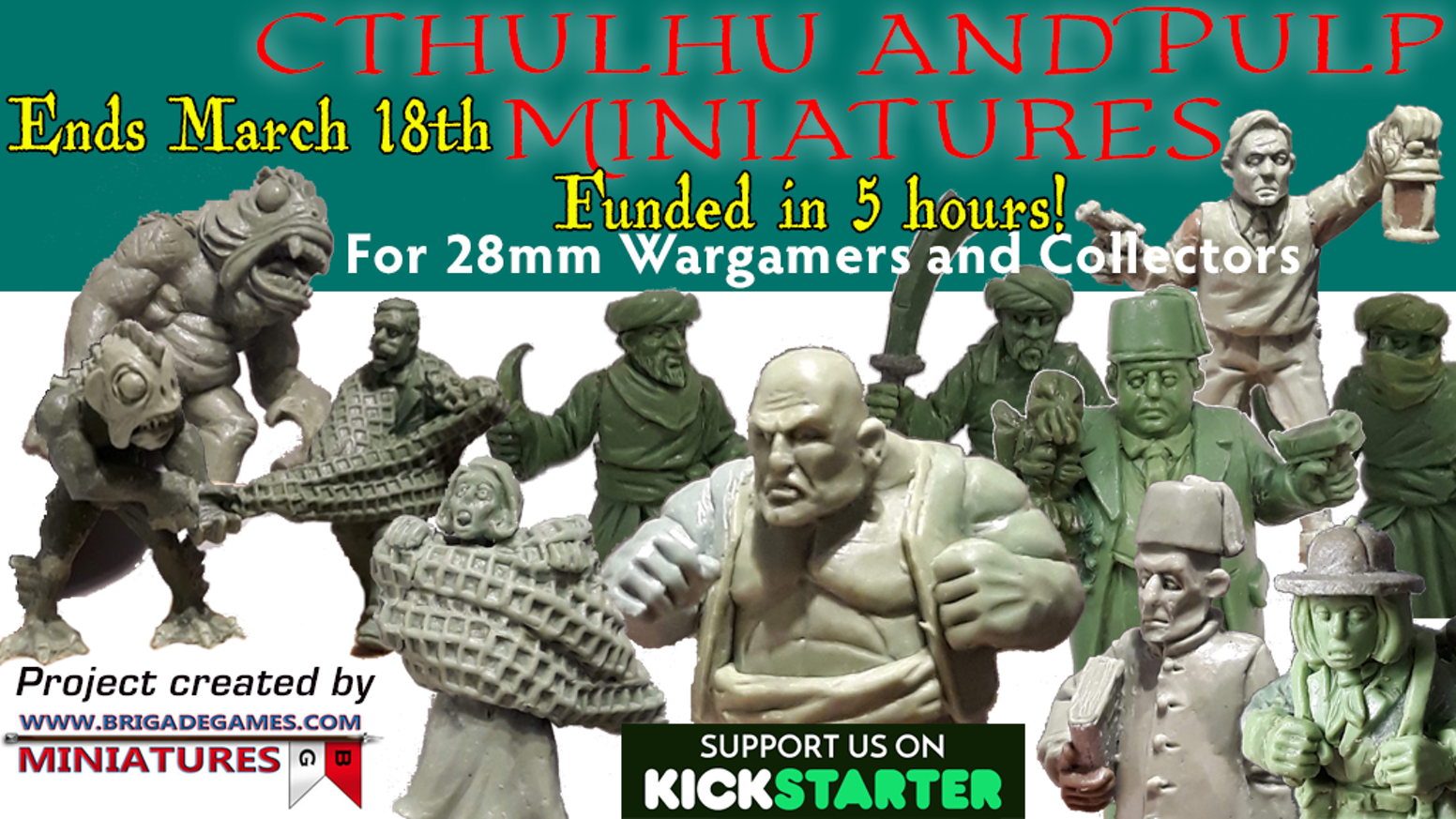 A collection of 28mm Cthulhu and Pulp Characters for wargamers and collectors.