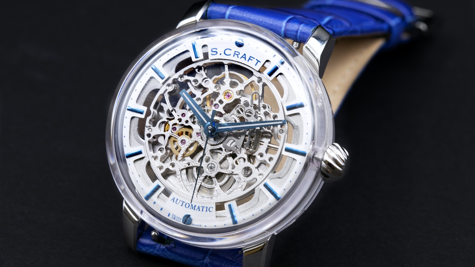 A fully transparent sapphire Swiss Made watch for a fraction of the cost!