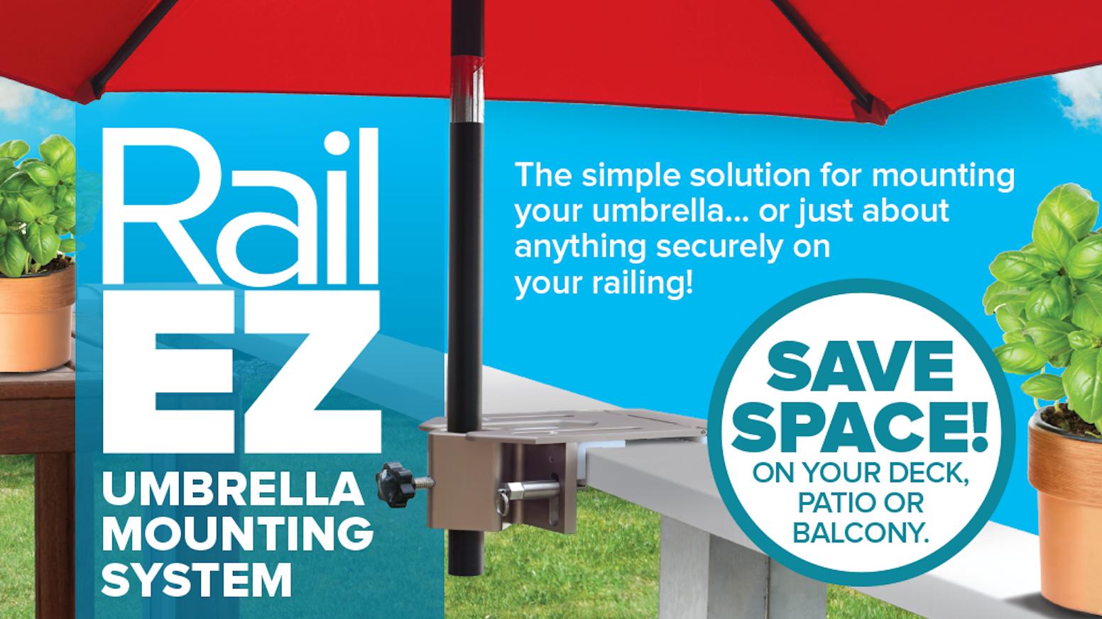 The Rail-EZ Umbrella Mounting System