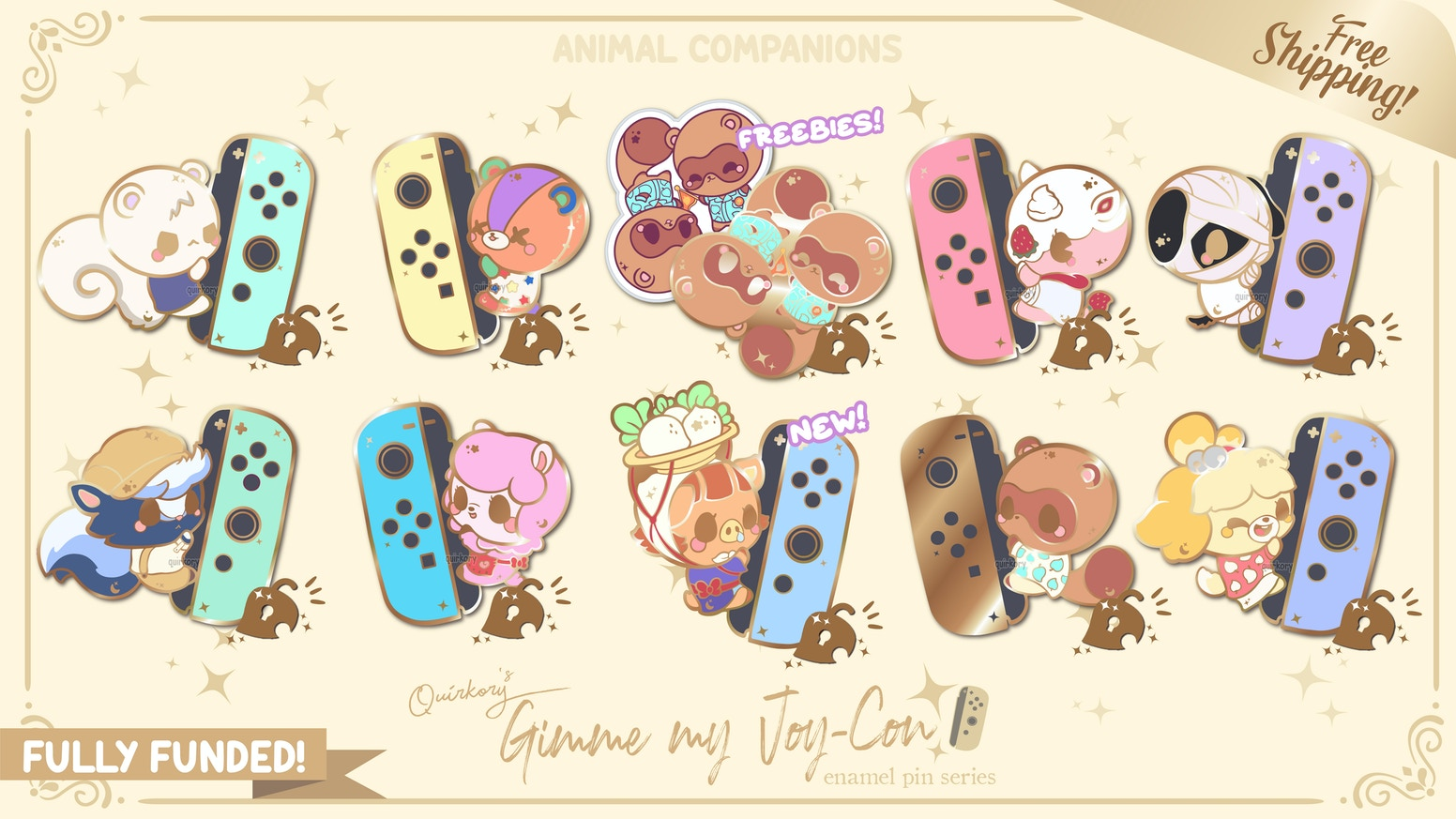 A super funny, quirky and cute hard enamel pins collection of our beloved AC Villagers, as you never seen them before!✧˖°